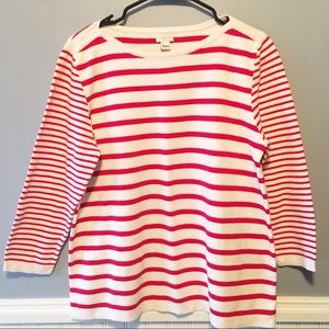 J. Crew Factory Mixed Striped Sweater